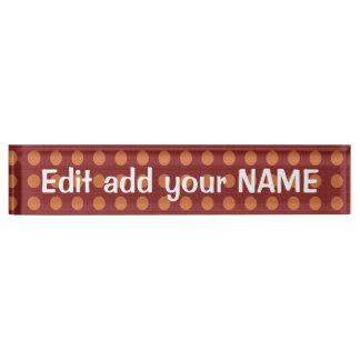 Acrylschreibtisch-Nummernschild NAME, Titel, Schreibtischplakette