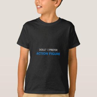 Action-Figur blaues 1W T-Shirt