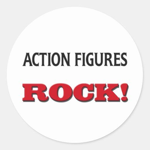 Action-Figur-Felsen Aufkleber