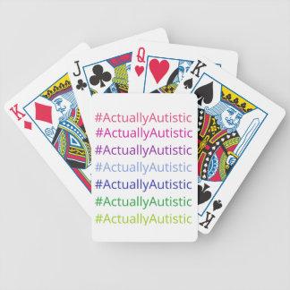 #ActuallyAutistic Bicycle Spielkarten