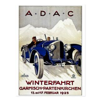 ADAC Vintage Automobil-Anzeige 1925 Postkarte