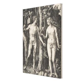 Adam und Eve, 1504 Leinwanddruck