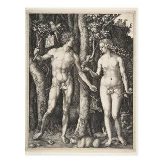 Adam und Eve, 1504 Postkarte