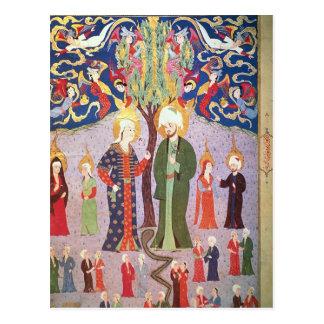 Adam und Eve und ihre dreizehn Zwillinge Postkarte