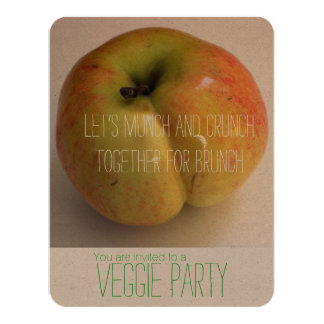 ADAMS APPLEveggie-Party Einladung