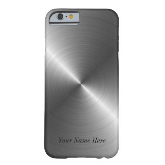 Add Your Name Steel Metal Look iPhone 6 case