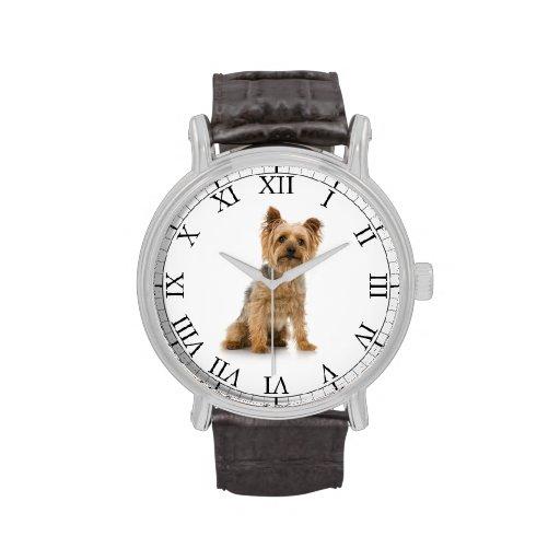 Addieren Sie das Foto-niedliches Hundebild Ihres H Armbanduhr