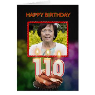 Addieren Sie ein Bild, 110. Geburtstagskarte mit Karte