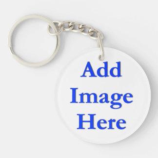 Addieren Sie ein Bild oder zwei Schlüsselanhängern