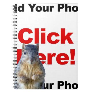 Addieren Sie eine Eichhörnchen-Gewohnheit Notizblock