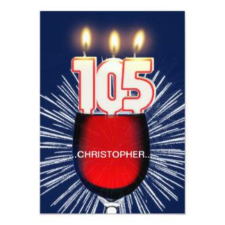 Addieren Sie einen Namen, 105. Geburtstags-Party Karte