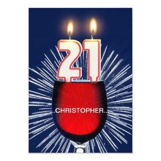 Addieren Sie einen Namen, 21. Geburtstags-Party Karte
