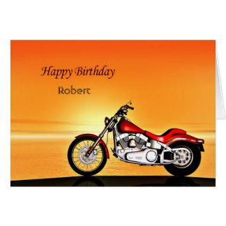 Addieren Sie einen Namen, Motorrad im Grußkarte