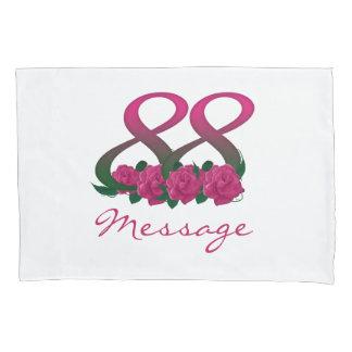 Addieren Sie Geburtstags-Blumen-Kissenabdeckung Kissenbezug