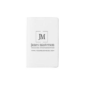 Addieren Sie Ihr berufliches Geschäfts-Monogramm Moleskine Taschennotizbuch