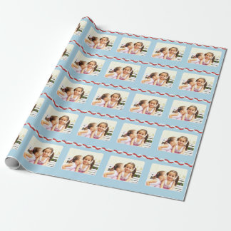 Addieren Sie Ihr eigenes Foto Einpackpapier