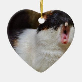 Addieren Sie Ihr eigenes Text-lustiges Keramik Herz-Ornament