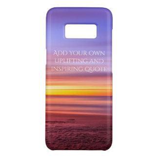 Addieren Sie Ihr eigenes Zitat, das Strand-Bild Case-Mate Samsung Galaxy S8 Hülle