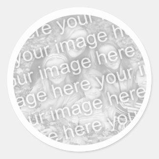 Addieren Sie Ihr Foto Runder Aufkleber