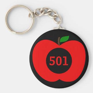 Addieren Sie Ihr Hausnummer-Monogramm rotes Apple Schlüsselanhänger