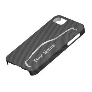 """""""addieren Sie Ihr Namens"""" Mustang-graues Schutzhülle Fürs iPhone 5"""