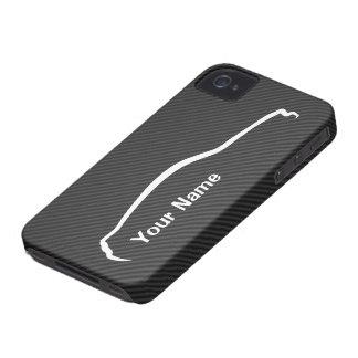 """""""addieren Sie Ihr Namens"""" Mustang-weißes Case-Mate iPhone 4 Hülle"""