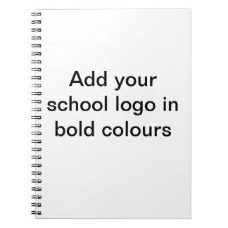 Addieren Sie Ihr Schullogo Spiral Notizblock