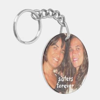 Addieren Sie Ihre Bild-Schwestern für immer Schlüsselanhänger