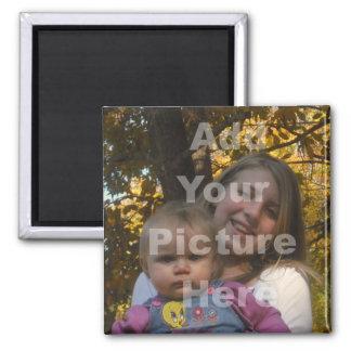Addieren Sie Ihre eigene Bild-Sammlung Quadratischer Magnet