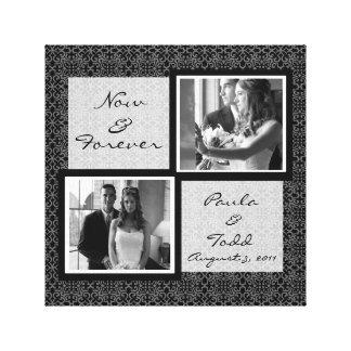 Addieren Sie Ihre eigene Hochzeits-Foto Gespannte Galeriedrucke