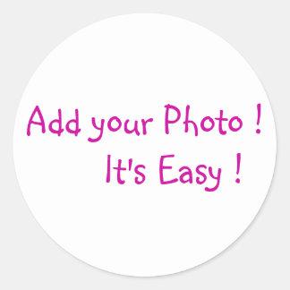 Addieren Sie Ihre Foto-Aufkleber