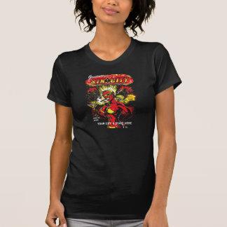 ADDIEREN Sie IHRE STADT Teufel-Mädchen-Atombombe T-Shirt