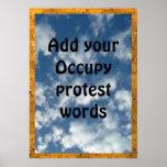 Addieren Sie Ihre Stimme, um Protest ZU BESETZEN Plakat