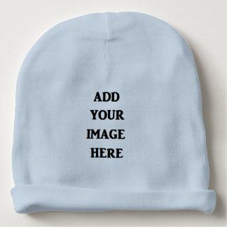 Addieren Sie Ihren Bild hier blaues BabyBeanie Babymütze