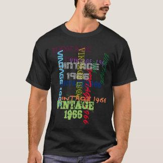 Addieren Sie Ihren Datumstypographiegeburtstag T-Shirt