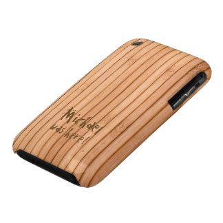 Addieren Sie Ihren hölzernen NamensPalisadenzaun Case-Mate iPhone 3 Hüllen