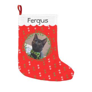 Addieren Sie Ihren Katzen-Foto-WeihnachtsStrumpf Kleiner Weihnachtsstrumpf