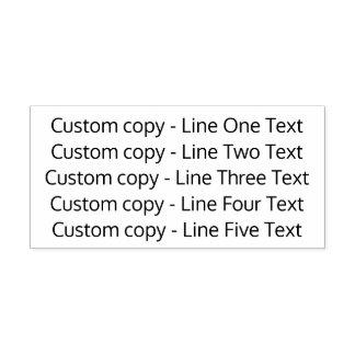 Addieren Sie Ihren Lieblingstext - fünf Linien Permastempel