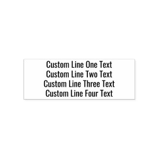 Addieren Sie Ihren Lieblingstext - vier Linien Permastempel