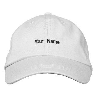 Addieren Sie Ihren Namenshut Bestickte Baseballkappe