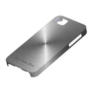 Addieren Sie Ihren Namensstahlmetallblick iPhone 5 iPhone 5 Etuis