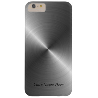 Addieren Sie Ihren Namensstahlmetallblick iPhone 7 Barely There iPhone 6 Plus Hülle