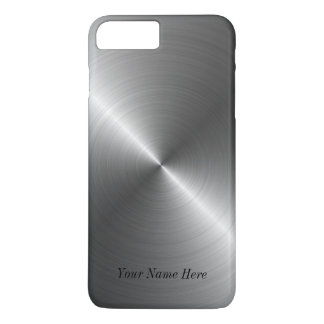 Addieren Sie Ihren Namensstahlmetallblick iPhone 7 iPhone 7 Plus Hülle