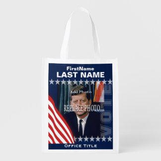 Addieren Sie Kampagnen-Schablone des Foto-| Wiederverwendbare Einkaufstasche