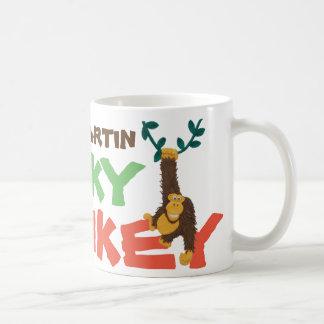 Addieren Sie Namen: zum flippigen Affen grinsender Kaffeetasse