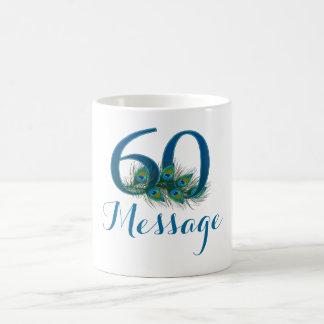 Addieren Sie personalisierte 60. Kaffeetasse