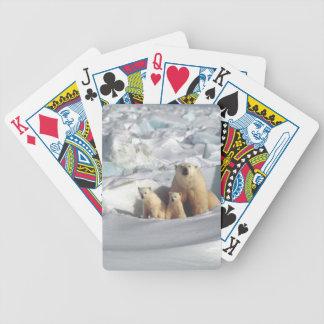 Addieren Sie SLOGAN, um arktischen polaren Bären Bicycle Spielkarten