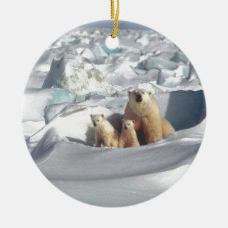 Addieren Sie SLOGAN, um arktischen polaren Bären Keramik Ornament