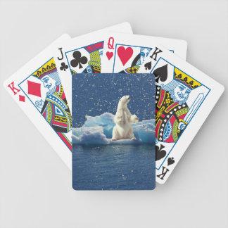 Addieren Sie SLOGAN, um polaren Bären arktisches Bicycle Spielkarten