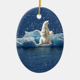 Addieren Sie SLOGAN, um polaren Bären arktisches Keramik Ornament